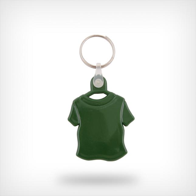Plastic shirt sleutelhanger groen