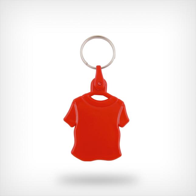 Plastic shirt sleutelhanger rood