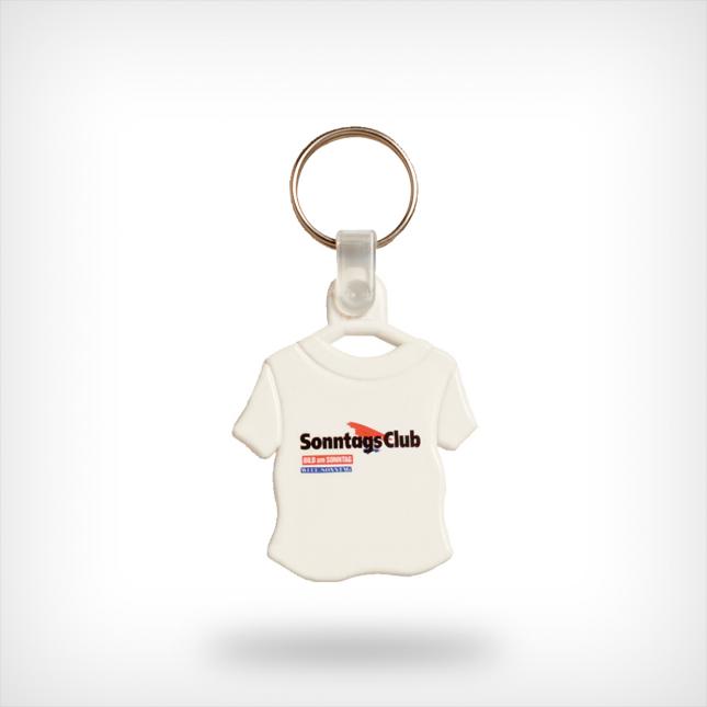 Plastic shirt sleutelhanger