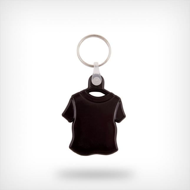 Plastic shirt sleutelhanger zwart