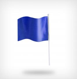 Onbedrukte vlaggetjes blauw