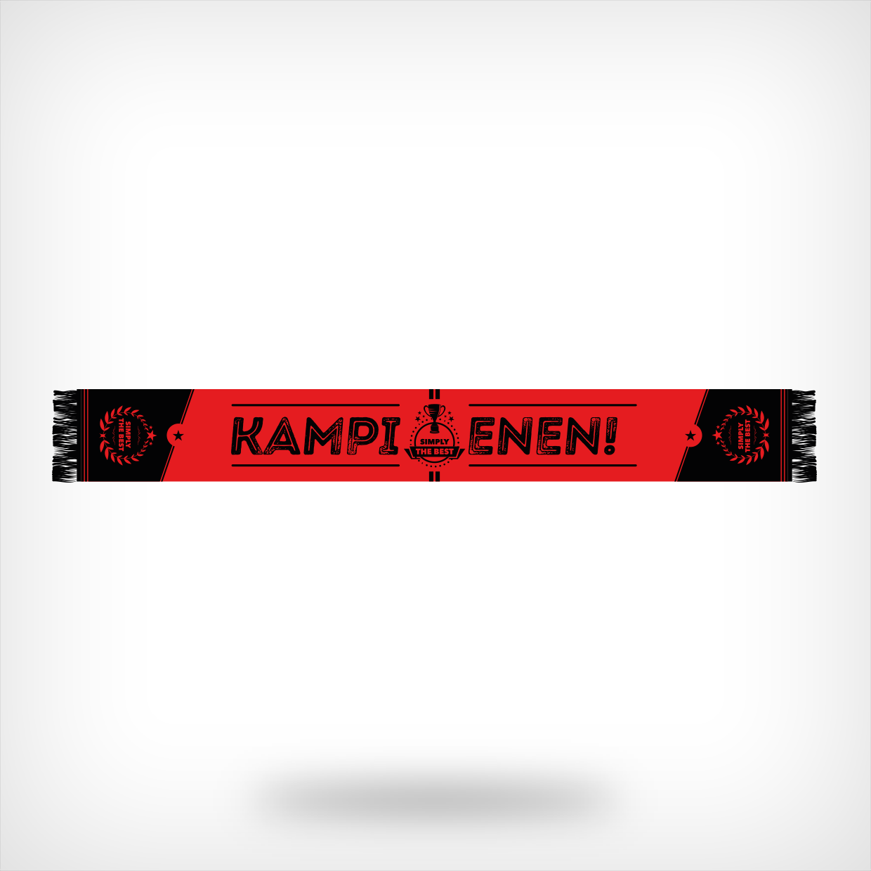 Rood-zwarte kampioenssjaal